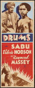 "Movie Posters:Adventure, Drums (United Artists, 1938). Other Company Insert (14"" X 36"").Adventure.. ..."