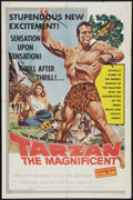 "Movie Posters:Adventure, Tarzan the Magnificent (Paramount, 1960). One Sheet (27"" X 41"").Adventure.. ..."