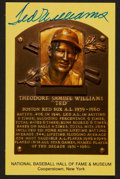 Baseball Collectibles:Others, Ted Williams Signed Hall of Fame Plaque Postcard....