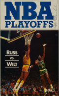Basketball Collectibles:Photos, Wilt Chamberlain Signed Magazine Clipping....