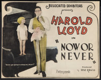 "Now or Never (Pathé, 1921). Title Lobby Card (9.75"" X 12.5""). Comedy"
