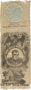 Political:Ribbons & Badges, William Henry Harrison: Graphic Nominating Convention Ribbon. ...