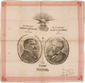 Political:3D & Other Display (pre-1896), Cleveland & Thurman: Sturdy Leaders Jugate Bandanna. ...