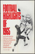 "Movie Posters:Sports, Football Highlights of 1965 (Universal, 1965). One Sheet (27"" X 41""). Sports.. ..."