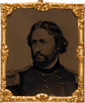 Political:Ferrotypes / Photo Badges (pre-1896), John C. Fremont: Civil War Era Ferrotype....