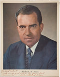 Autographs:U.S. Presidents, Richard Nixon: Signed 1960 Campaign Portrait....