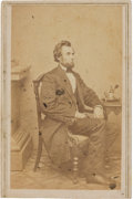 Photography:CDVs, Abraham Lincoln: Inkwell Pose CDV....
