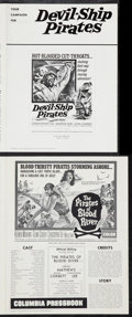 "Movie Posters:Adventure, The Pirates of Blood River & Others Lot (Columbia, 1962). UncutPressbooks (3) (4 Pages, 10"" X 13.25"", 11"" X 14"", 12"" X 17"")...(Total: 3 Items)"