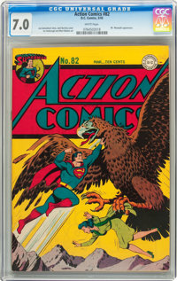 Action Comics #82 (DC, 1945) CGC FN/VF 7.0 White pages