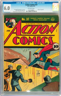 Golden Age (1938-1955):Superhero, Action Comics #37 (DC, 1941) CGC FN 6.0 Off-white pages....