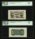 Fractional Currency:Third Issue, Fr. 1274SP/1272SP 15¢ Third Issue Wide Margin Pair PCGS Very Fine 35 and About New 53.. ... (Total: 2 notes)