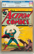 Golden Age (1938-1955):Superhero, Action Comics #35 (DC, 1941) CGC FN- 5.5 Off-white to white pages....