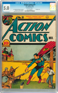 Action Comics #31 (DC, 1940) CGC VG/FN 5.0 Off-white pages
