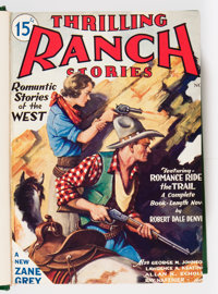 Thrilling Ranch Stories Bound Volume (Rugby House Inc., 1933-34)