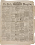 Miscellaneous:Newspaper, [Civil War] The Daily Picayune Newspaper....