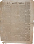 Miscellaneous:Newspaper, [Civil War] The Daily Delta Newspaper....