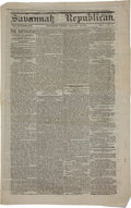 Miscellaneous:Newspaper, [Civil War] Savannah Republican Newspaper....