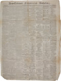 Miscellaneous:Newspaper, Newspaper: New-Orleans Commercial Bulletin. ...