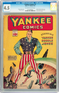Yankee Comics #1 (Chesler, 1941) CGC VG+ 4.5 Off-white to white pages