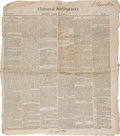 Miscellaneous:Newspaper, [Slavery] National Intelligence Newspaper....
