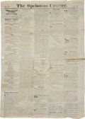 Miscellaneous:Newspaper, Wallpaper Newspaper: The Opelousas Courier....