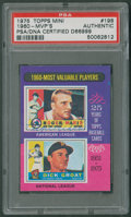 """Autographs:Sports Cards, 1975 Topps """"1960 MVPs"""" Roger Maris-Dick Groat #198 PSA/DNAAuthentic - Signed by Maris...."""