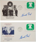 "Autographs:U.S. Presidents, Gerald Ford Pair of 1974 Inauguration Postal Covers Signed ""GeraldFord"".... (Total: 2 Items)"