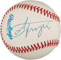 Boxing Collectibles:Autographs, Joe Frazier Single Signed Baseball....