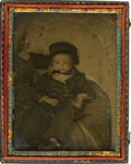 Photography:Ambrotypes, Post-Mortem Ambrotype: Toddler and Black Nanny....