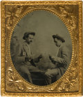 Photography:Tintypes, Card Player Tintype....