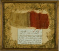 Military & Patriotic:Pre-Civil War, A Piece of Old Glory: Star Spangled Banner Relic....