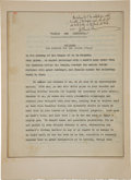 Autographs:Authors, George Bernard Shaw Signed Typescript....