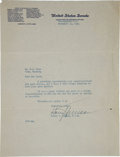 Autographs:U.S. Presidents, Harry S. Truman Typed Letter Signed as a Senator....