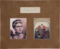 Autographs:Artists, Frida Kahlo Signed Card...