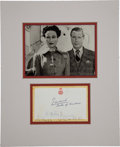 Autographs:Non-American, Edward and Wallis, Duke and Duchess of Windsor Card Signed...