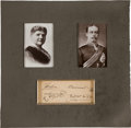 Autographs:Non-American, Helen and Leopold, Duke and Duchess of Albany Card Signed...