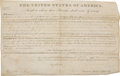 Autographs:U.S. Presidents, James Monroe Land Grant Signed as President....