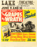 "Movie Posters:Drama, The Grapes of Wrath (20th Century Fox, 1940). Jumbo Window Card(22"" X 28"").. ..."