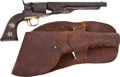 Handguns, 1860 Model Colt Revolver with Original Western-Style Inlay on the Grip. ...