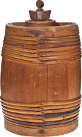Antiques:Decorative Americana, Individual Wooden Water Cask, c. 19th Century...
