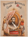 Political:Small Paper (pre-1896), Abraham Lincoln: Colorful Sheet Music....
