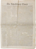 Miscellaneous:Newspaper, [Civil War] The New-Orleans Times Newspaper....
