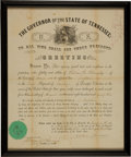 Autographs:U.S. Presidents, Andrew Johnson Civil War Military Appointment ... (Total: 14 Items)