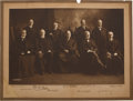 Photography:Cabinet Photos, White Supreme Court Oversized Albumen Photograph Signed by all NineJustices....