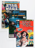 Modern Age (1980-Present):Science Fiction, Star Trek/Star Wars Group (Marvel, 1977-88) Condition: Average NM-.... (Total: 9 Comic Books)
