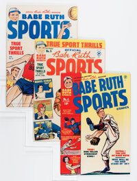 Babe Ruth Sports Comics #3-6 Group (Harvey, 1949-50) Condition: Average VF+.... (Total: 3 Comic Books)