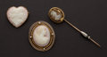 Estate Jewelry:Cameos, Cameo Collection. ... (Total: 3 Items)