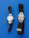 Timepieces:Wristwatch, Four All Gold Ladies Early Wristwatches Runners. ... (Total: 4Items)