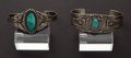 Estate Jewelry:Bracelets, Five Silver & Turquoise Bracelets. ... (Total: 5 Items)