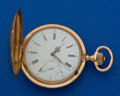 Timepieces:Pocket (post 1900), Swiss 14k Gold 20 Jewel Pocket Watch. ...